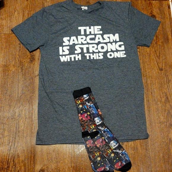 Star Wars shirt M and socks bundle, L